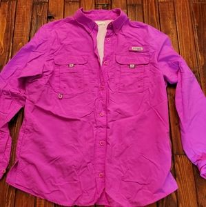 Columbia hot pink long sleeve